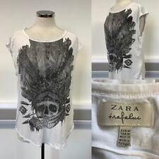 Crâne Halloween Costume T-shirt noir tee-shirt ZARA Baggy Robe fantaisie fait main GG LV