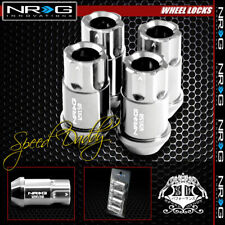 "4 X NRG ANODIZED M12X1.5 1.75""L LUG NUT LOCKS HONDA CIVIC ACCORD/MUSTANG CHROME"