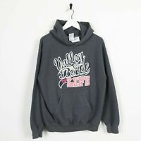 Vintage Novelty Graphic Volleyball Big Logo Hoodie Sweatshirt Grey | Small S