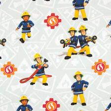 Baumwollstoff Feuerwehrmann Sam Elli & Elvis Kinderstoffe TV Serie Öko-Tex