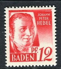 GERMANY ALLIED OCC BADEN;  1948 early pictorial Mint MNH unmounted 12pf.