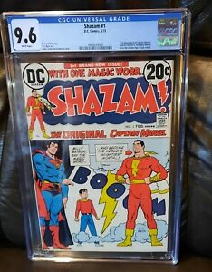 Shazam #1 CGC 9.6 NM+ First Captain Marvel & Family Appearance  DC White Pages