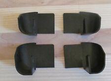 4 Pieces Black Rail Plastic Drip Spouts For Aluminum Gutter RV Camper Trailer