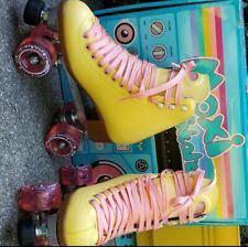 moxi beach bunny roller skates size 7 strawberry lemonade yellow skates moxi