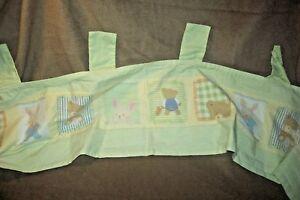 Carter's Window Valance Baby Nursery Hide and Seek Bear Bunny Unisex Animals