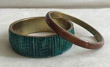 Lot of 2 Twos Company Bangle Chunky Bracelets - Made in India -Cute Boho WOW