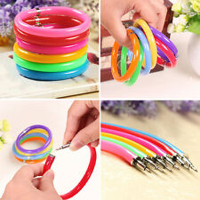 Nice 10 x Mixed Bulk Novelty Ball Point Pens Wristband Bangle Bracelet Colorful
