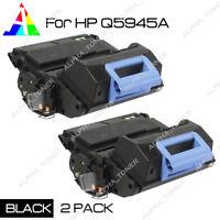 2PK Q5945A 45A Black Toner Cartridge For HP LaserJet 4345 4345mfp M4345 M4345x