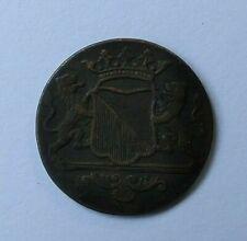 1786 Netherland Colony VOC Used Coin One Ceylon Duit Dutch Utrecht Sri Lanka