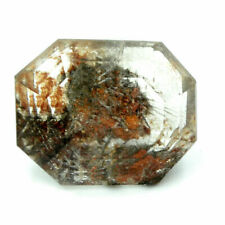Cts. 22.20 Natural Lodolite Madagascar Garden Quartz Emerald Cut Loose Gemstone