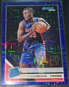 Sekou Doumbouya 2019-20 Donruss INFINITE BLUE PARALLEL Rookie Card SP (#d 20/35)