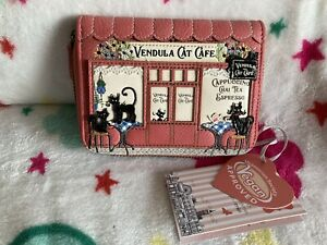 Vendula London Cat Cafe Small Ziparound Wallet