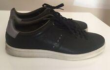 Men's ECCO Black Leather Athletic Shoes Sz 47 $160-