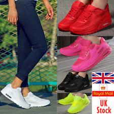 UK Women Lace Up Air Cushion Athletic Trainers Sneakers Running Casual Shoe Size