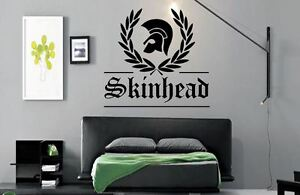 Skinhead Laurel Leaf Music Lounge Kitchen Bedroom Vinyl wall art Decal Sticker