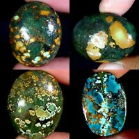 AMAZING SUPER100%NATURAL TWO+THREE Color TIBET TURQUOISE CABOCHON AC165 GEMSTONE