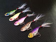 5x PFS Fishing Blades Vibe VIB Metal Lures 50mm Saltwater Lure Hooks Bream