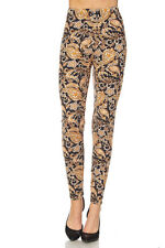 Leggings TC/200 Buttery Soft Always Brushed Black w/Paisley Print PLUS SIZE