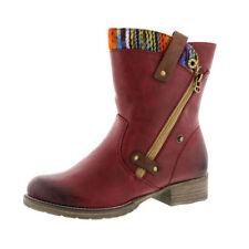 Botas de mujer botines Rieker color principal rojo