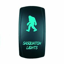 12V 20A ROCKER SWITCH LED SASQUATCH LIGHTS GREEN LASER LED UTV BOAT TRUCK