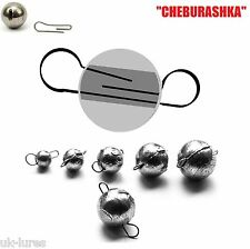 FLEXI JIG HEAD BALL Sinker 5pcs CHEBURASHKA Dropshot soft lures fishing shad