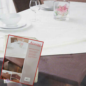 Inhabit Fitted Table Protector by Ladelle | Brown or White | Square or Rectangle