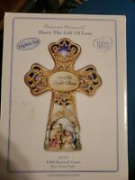 NEW Precious Moments LIGHT UP MUSICAL CROSS Share The Gift Of Love Nativity NIB