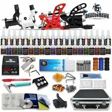 Professional Complete Tattoo Kit 4 Top Rotary Machine Gun 40 Color Inks