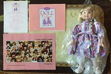 """1996 Goebel Doll Club 9"""" Porcelain Doll Exclusive"""