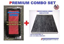 AF6202 Air Filter + CARBON Cabin Air Filter COMBO for 12 -16 NISSAN VERSA & NOTE