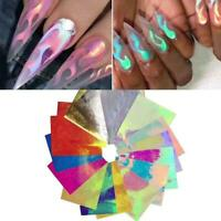 Fire Flame Holographic Hollow Stickers Fire Nail Art Manicure Stickers