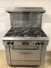 Stove 6 Burner Southbend X336d With Oven And Shelf Natural Gas Tested