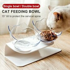 Double Elevated Pet Bowl Cat Dog Feeder Food Water Raised Lifted Stand Holder N#