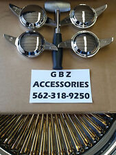 2 BAR  Knock Offs  Spinners Chrome Wire Wheel With Lead Hammer