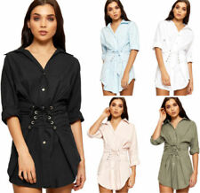 Collar Long Sleeve 100% Cotton Dresses for Women
