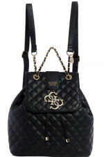 New GUESS Miriam backpack quilted black 4 G Logo drawstring closure chain bag