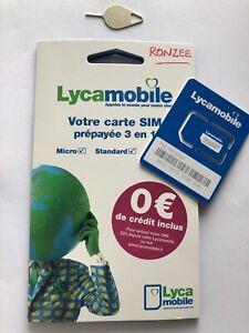 Carte Sim LycaMobile PréPayée sans engagement sans abonnement ✅ 0€ de crédit  ✅