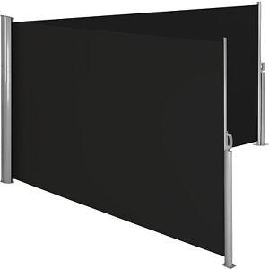 Store latéral double brise-vue abri soleil aluminium auvent rétractable noir