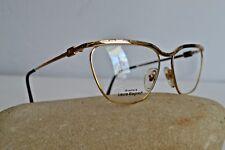 Laura Biagiotti occhiale da vista vintage 1988 metallo oro elegante gatta