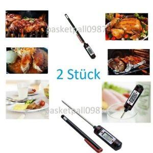 2x Digital-Küchenthermometer Lebensmittel Kochen BBQ Fleisch Steak