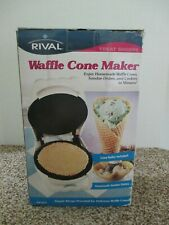 NEW RIVAL WAFFLE CONE MAKER ENJOY SUNDAE DISHES CONES & COOKIES IN MINUTES WC800