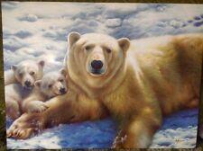 Ölgemälde Eisbärfamilie -Grandiose Malerei /Signatur