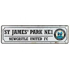 Newcastle United Retro Window Sign Car Metal Official Licensed Football Product