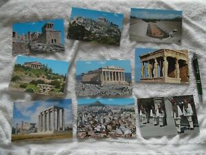 9 Unused Postcards from Athens, Greece