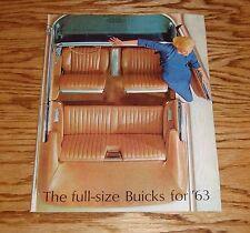 Original 1963 Buick Full Size Sales Brochure 63 Electra Wildcat LeSabre