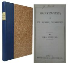 FRANKENSTEIN; OR, THE MODERN PROMETHEUS BY MARY SHELLEY 1856 SIXTH EDITION