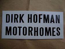 Dirk Hofman Motor Homes Sticker Cyclocross CX Tour of Flanders Paris Roubaix