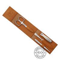 Niegeloh Tan Leather 4 Piece Luxury Manicure Set (88508 Tan)