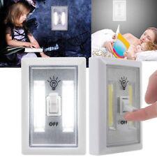 Bright COB LED Wall Switch Wireless Battery Operated Closet Cordless Night Light