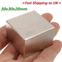 N52 Grade Super Strong Neodymium Block Square Rare Earth Magnet 30 x 30 x 20mm